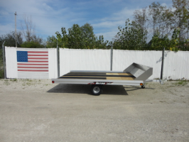 Triton XT10-101 Aluminum Tilt Bed Snowmobile Trailer With Salt Shield And Accessories