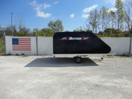 Triton XT10-101 Aluminum Tilt Bed Snowmobile Trailer With Black Coverall 4X4 Front Access Door (5245