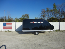Triton XT12-101QP Aluminum 12 Ft Snowmobile Trailer With Black Coverall 4X4 Front Access Door & Full