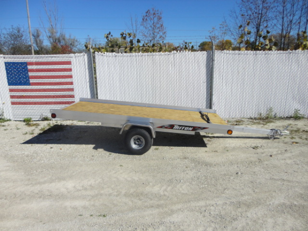 Triton XT45 Single Aluminum Tilt Bed Snowmobile Trailer Madison Wisconsin Chicago Illinois triton xt4 5 10 foot aluminum single sled tilt bed snowmobile newman sled bed trailer wiring diagram at aneh.co