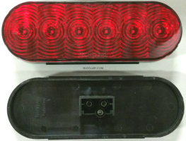 Triton 08478 LED Red Oval Tail Light