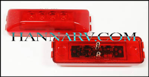 Triton 09651 Red 4-inch Rectangular LED Clearance Sidemarker Light