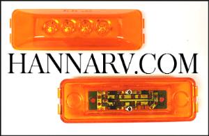 Triton 09652 Amber 4-inch Rectangular LED Clearance Sidemarker Light