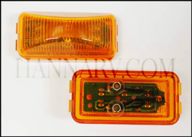 Triton 10628 Amber 2.5-inch Rectangle LED Clearance Sidemarker Light