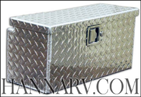 Triton 15531-1 Aluminum Diamond Plate Work Box With Hardware