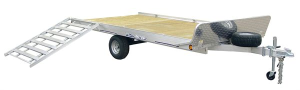 Triton ATV128 Aluminum 3 Place ATV Utility Trailer With Stone Guard