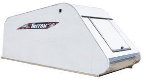 Triton T12-SGL-GS Aluminum Snowmobile Trailer Coverall 12FT Rear Opening 30-1/2 X 37-1/2 Access Door