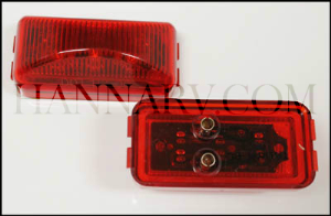 Triton 09653 Red 2.5-inch Rectangle LED Clearance Sidemarker Light