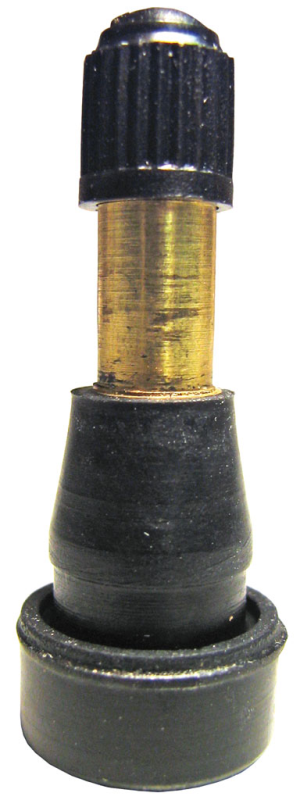 Valve stem tr metal with rubber snap in
