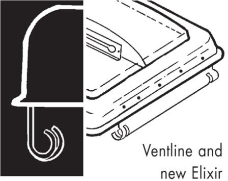 Camco 40155 White Polypropylene Rv Vent Cover For