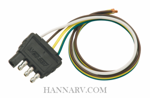 Wesbar 707285 Heavy Duty 4 Way Trailer Connector with 18 Inch Wires_THL electrical wire harnesses connectors plug adapters wiring wesbar trailer connector wiring diagram at webbmarketing.co