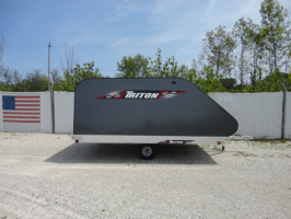Triton XT11-101SQ Aluminum 11 Ft Snowmobile Trailer With Grey Coverall 4X4 Front Access Door & Short