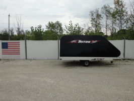 Triton XT11-101SQ Aluminum 11 Ft Snowmobile Trailer With Black Coverall 4X4 Front Access Door & Shor