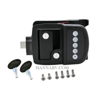 Bauer Products 013-509 RV Door Lock With Deadbolt And Programmable Keypad By AP Products