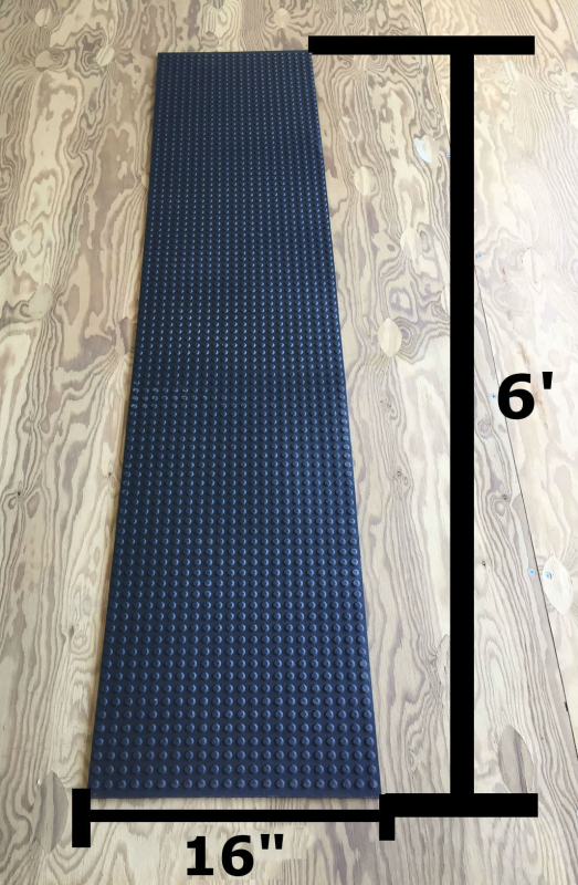 Slide Guides Inc Snowmobile Trailer Traction Mat 6 Foot