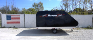 Triton XT11-101 Aluminum 11 Ft Snowmobile Trailer With Black Coverall 4X4 - Muskego