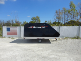 Triton XT10-101 Aluminum Tilt Bed Snowmobile Trailer With Black Coverall 3X2 Front Access Door (527