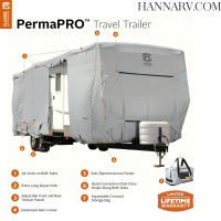 Classic Accessories 80-136 PermaPRO Travel Trailer Cover 22-feet - 24-feet