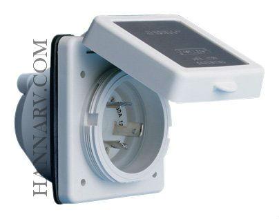 120_Marinco RV 301ELRV 30 Amp Power Inlet - White with Stainless Steel Trim | Hanna ...