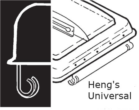 Heng's Universal RV Vent And Cover Hinge Diagram