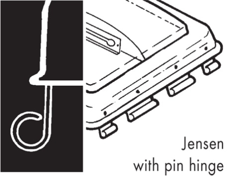 Jensen Pin Hinge RV Vent And Cover Hinge Diagram