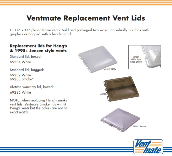 RV Vent Covers By Ventmate For New Style Jensen RV Vents