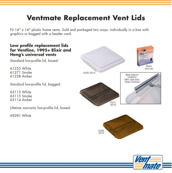 RV Vent Covers By Ventmate For Ventline, Hengu0027s Universal And New Elixir RV  Vents