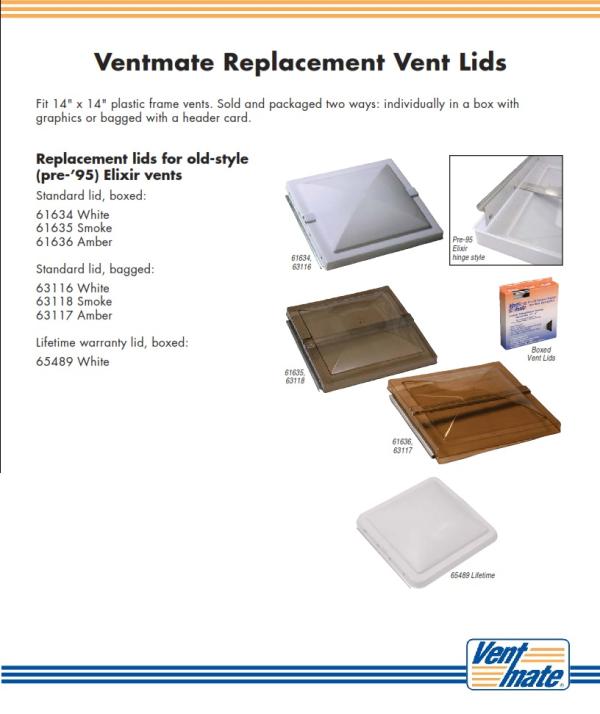 RV Vent Covers   Ventmate 61634   White Polypropylene RV Vent Cover ...