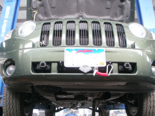 Tow Vehicle Base Plate Installation, Breakaway Cable Install, And Tow Vehicle Wiring On Jeep Compass