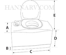 Thetford 32812 C402C Cassette Toilet With Electric Flush - Left Hand Flush