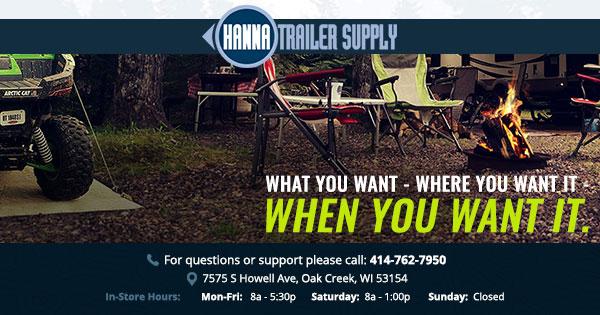 Tent & pop-up camper parts for sale | Hanna Trailer Supply